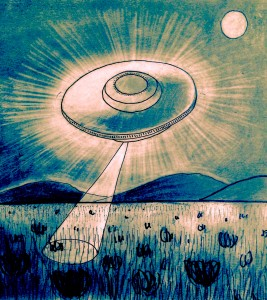Flying Saucer Art by Luther Birdmaker Soulsalight Member
